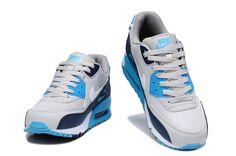 $109.00  Nike Air Max 90 Mens Grey Blue White