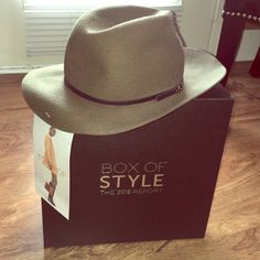 """TopShop """"The Fedora"""" from Rachel Zoe Box of Style TopShop Olive Fedora Brand New Never Worn from Rachel Zoe Fall Box of Style Topshop Accessories Hats"""