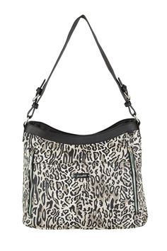 Grace Adele Handbag ~ Giselle Ocelot $80 ~ Zippered hobo with detachable shoulder strap.  Great bag for concealed weapons.