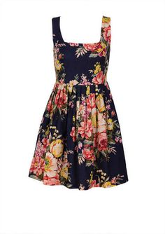 Allover Antique Floral Printed Dress - Casual - Dresses - dELiA*s. A little retro, but really flattering.