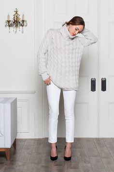 Emerson Fry - Big Knit Sweater - Ivory great sweater