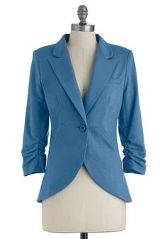 Fine and Sandy Blazer in Ocean, #ModCloth - $59.99