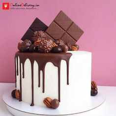 Online Delivery offers Online Cake Delivery in Meerut. Now order and send cakes to Meerut from the best birthday/anniversary cakes for same day cake delivery. Chocolate Cake Designs, Kids Chocolate Cake, Chocolate Cupcakes Decoration, Bolos Naked Cake, Decoration Patisserie, Online Cake Delivery, Beautiful Birthday Cakes, Bolo Cake, Cake Decorating Techniques