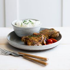 Cumin Baked Chicken Thighs | Fragrant and slightly spicy, these cumin-spiced chicken thighs are wonderful served with basmati rice. Chicken Pasta Dishes, Chicken Spices, Chicken Eggs, Cumin Chicken, Cooked Chicken Recipes, Great Chicken Recipes, Cheese Stuffed Chicken, Chicken Thigh Recipes, Baked Chicken