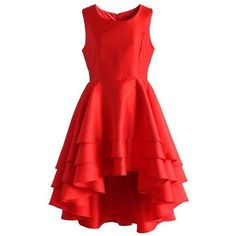 SimpleDressUK Women's High Low Layer Satin Short Cocktail Prom Dress ❤ liked on Polyvore featuring dresses, short red dress, red cocktail dress, short cocktail dresses, evening dresses and prom dresses
