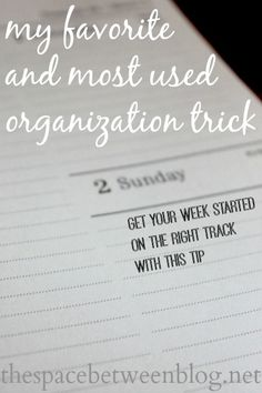 stay organized with this one simple trick I used every week #Staying #organised