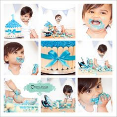 Cake smash for little boys first birthday