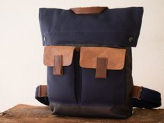 Men and Women Backpack, GRAY, Canvas handmade men's BACKPACK, Canvas Leather Bags, Rucksack