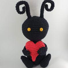 Shadow Heartless – Ninja Cat Crafts Art Patterns, Pattern Art, Ninja Cats, Cat Crafts, Crochet Necklace, Crochet Hats, Fan Art, Amigurumi, Knitting Hats