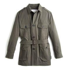 The Belted Safari Jacket - Olive