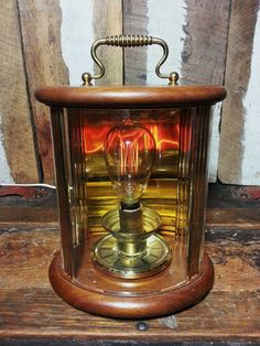 One-of-a-kind Handmade Upcycled Repurposed Clock Shadow Box Steampunk Inspired Desk Lamp with Vintage Edison Style Filament Night Light Bulb by UrsMineNours on Etsy https://www.etsy.com/listing/235600504/one-of-a-kind-handmade-upcycled