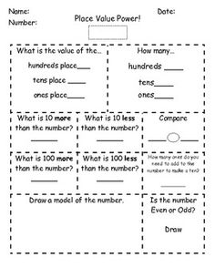 Place Value Power (place value practice the the hundreds place)