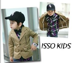 NEW ISSO KIDS Baby Toddler Boys Clothes BEIGE Blazer Jacket Coat Size 3,4,5,6,7
