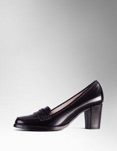 Mid Heel Loafer