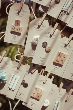 Escort/Place cards!!! so creative!