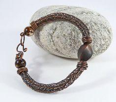 Viking Knit Gemstone & Wood Bead Bracelet  by BeauBellaJewellery #vikings