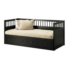I'm a little obsessed with this daybed. HEMNES Daybed frame IKEA Sofa, single bed, bed for two and storage in one piece of furniture. Solid wood, a hardwearing natural material..