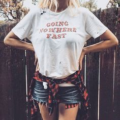 We love a good ripped up shirt and @_paigecraig of @twobleachedblondes this one perfectly! ✂️ Link in profile to shop. #jawbreaking http://www.shopjawbreaking.com/