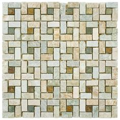 Give any area a bold look with these stone mosaic tiles. There are five in the set, so there's more than enough to makeover several spaces, and they have a high resistance to abrasions, so you don't have to worry about scuffing them.