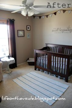 Gender Neutral Nursery with browns and white