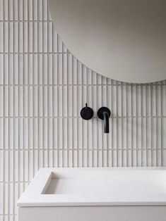 Raven - INAX Tile Distributor , UK & European Supplier of Yuki Border White - UK Stock - Care - Skin care , beauty ideas and skin care tips Decor Inspiration, Bathroom Inspiration, Quirky Home Decor, Cheap Home Decor, Boffi, Design Apartment, Curved Walls, Wall Installation, Bathroom Wall