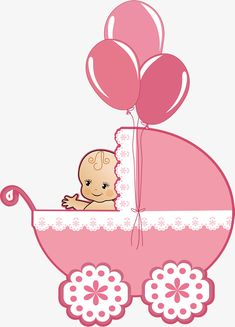 Pink stroller PNG and Vector Baby Girl Clipart, Baby Shower Clipart, Baby Shower Labels, Baby Boy Shower, Dibujos Baby Shower, Imprimibles Baby Shower, Christian Baby Shower, Baby Doll Bed, Baby Stickers