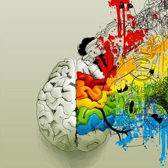 brain and colors
