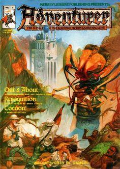 Lovecraftian horror by Richard Dolan, Adventurer 8, March 1987