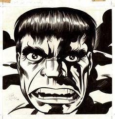 A piece done for the 1979 Hulk Calendar by Jack Kirby and Joe Sinnott.
