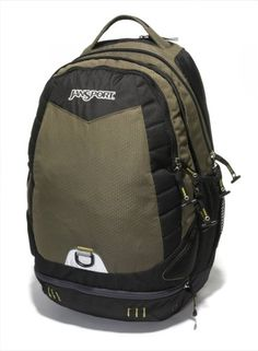 #JanSport #Wasabi #Backpack   don't get it just because of the laptop slot   http://amzn.to/IxmsaR