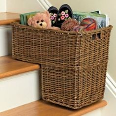 Stair Step Basket w/ Carrying Handle  $38.99 / Pretty cool idea