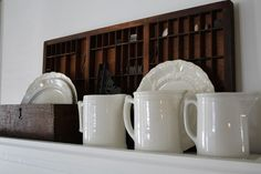 Love the tankards and the mix with the wooden items