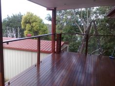 glass and timber balustrade - Google Search