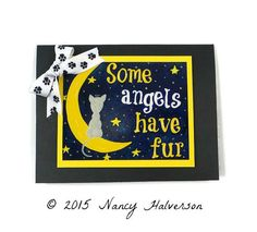 Cat Sympathy Card Sympathy Card Cat Bereavement by TheRescueMama