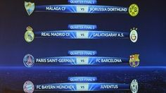 UEFA Champions League quarter-final draw
