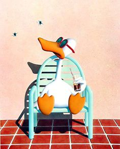 Michael Bedard, Sitting Duck; since the early 1980's, I laugh out loud every time I see this print