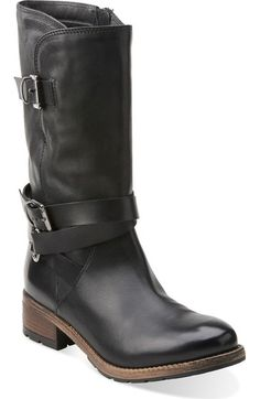 Clarks® 'Volara Melody' Moto Boot (Women) available at #Nordstrom