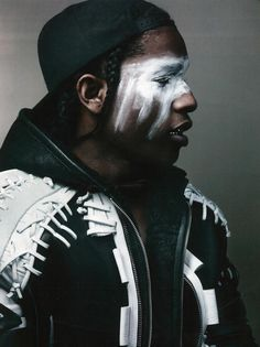Alexander Wang interviews ASAP Rocky - Make-up adds a new level to the image. Also like the toning.