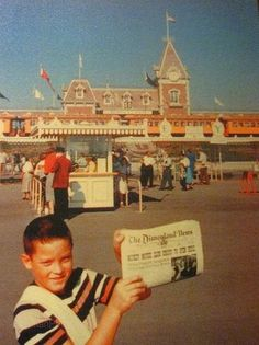 In the original days of Disneyland Paperboys sold newspapers of Disney events and promotions, via vintageDisneyParks