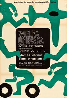 The Great Escape (John Sturges, 1963) Polish design by Wiktor Gorka