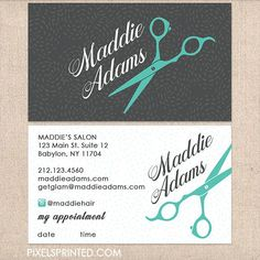 Hairstylist Or Hair Salon Business Cards Color Both Sides Free