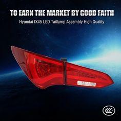 289.00$  Buy here - http://ali8qw.worldwells.pw/go.php?t=32776692327 - (1set 4pcs) KSEGA Car Styling IX45 LED Tail Lamp Red New Arrivals LED Rear Lights for Santa fe LED Back Lighting  289.00$