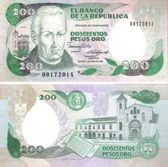 Colombia Pesos banknotes for sale. Dealer of quality collectible world banknotes, fun notes and banknote accessories serving collectors around the world. Over 5000 world banknotes for sale listed with scans and images online. John Wayne Western Movies, Rare Coins Worth Money, Money Notes, Money Worksheets, Money Stacks, Coin Worth, Gold Money, World Coins, History