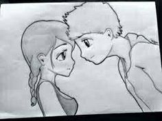 Cute anime love couples easy to draw: cute anime couple drawings Cute Couple Sketches, Tumblr Cute Couple, Sketches Of Love, Hipster Couple, Anime Couples Drawings, Cartoon Drawings Of People, Cartoon Girl Drawing, Panda Drawing, Drawing Animals