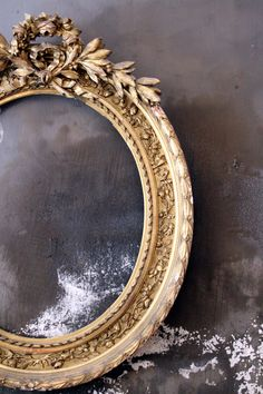 #antique mirror frame...