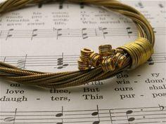Recycled Acoustic Guitar String Bracelet