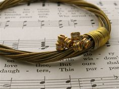 Recycled Acoustic Guitar String Bracelet