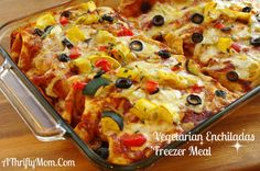 Vegetarian Enchiladas, Freezer Meals, Money Saving Recipes, Freezer Recipes