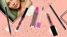 Kylie Jenner's Lip Kit Has Sold Out So Here Are Some Dupes Candy K Jeffree Star Velour Liquid Lipstick in Celebrity Skin Sleek Matte Me Lip Gloss in Birthday Suit MAC Lip Pencil in Soar