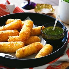 Potato & gouda croquettes - these are so, so good. Light and fluffy on the inside, crispy on the outside - Favorite!